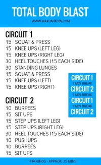 Total Body Blast At Home Workouts