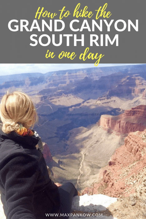 Planning a road trip? Here's how to hike the Grand Canyon South Rim in 1 day, including where to watch sunrise and the place hikes for epic viewpoints. #grandcanyon