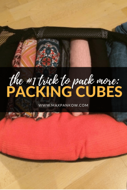 The #1 trick to pack more (hint: packing cubes)