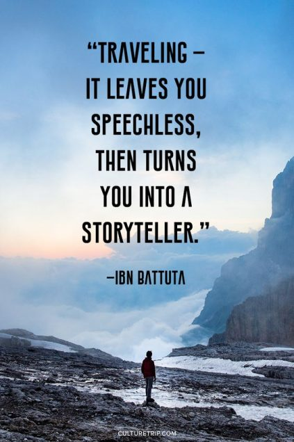 traveling leaves you speechless then turns you into a storyteller