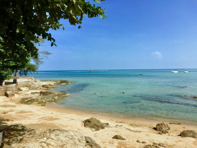 Private beach at Chill Inn in Koh Samui