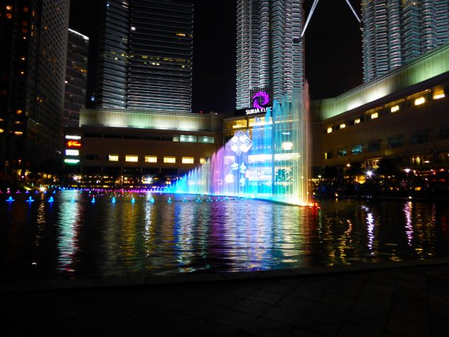 Water Show at Petronas Twin Towers