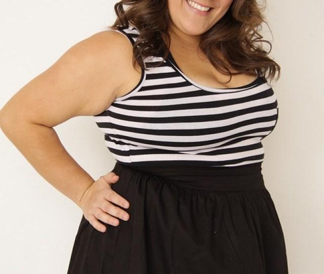 Woman Fat Plus Size Portuguese Model Smile