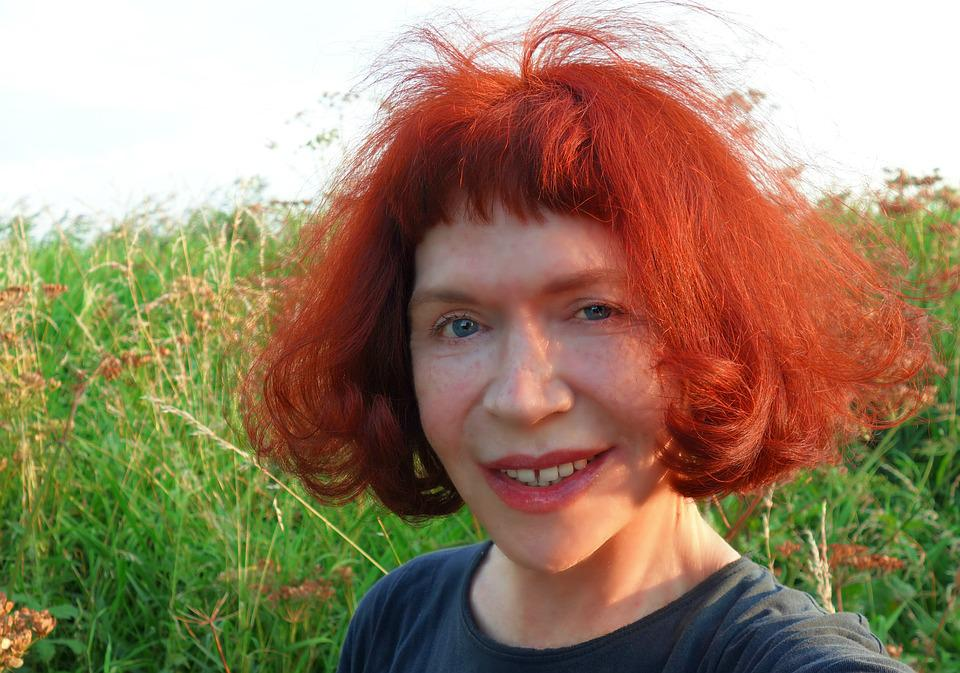 Free Photo Red Hair Portrait Face Bob Woman Blue Eyes Hair
