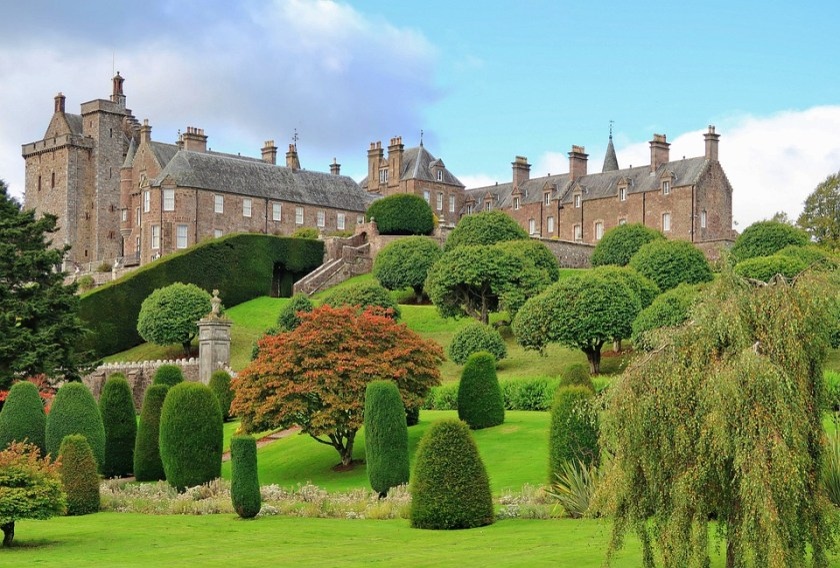 Architecture, Travel, Palace, Garden, Tourism, Scotland