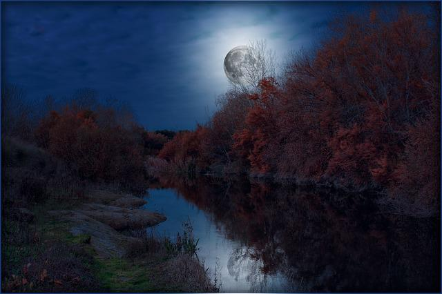 Free Photo Sky Landscapes Full Moon Sky And Moon Night