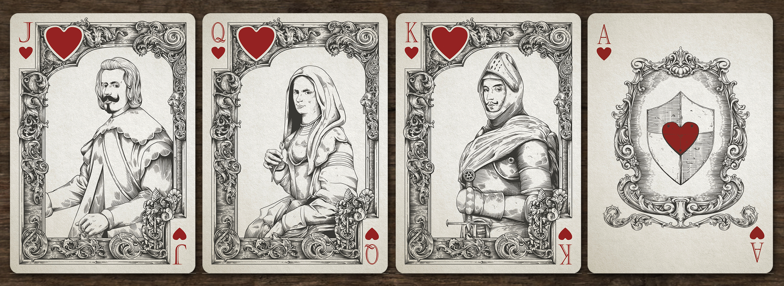 MedievalSpadesCourts Max Playing Cards