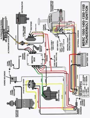 1974  Mercury 150 hp Inline 6  Choke Switch Wiring
