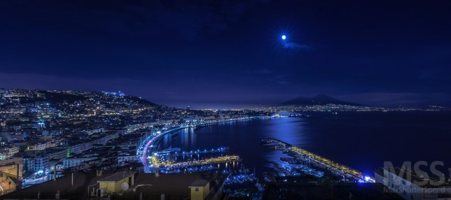 The gulf of Naples by night