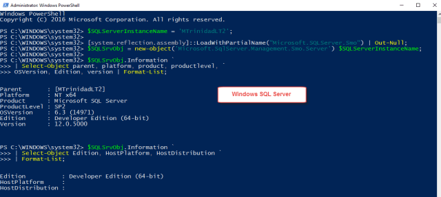 powershell2sqlwindows