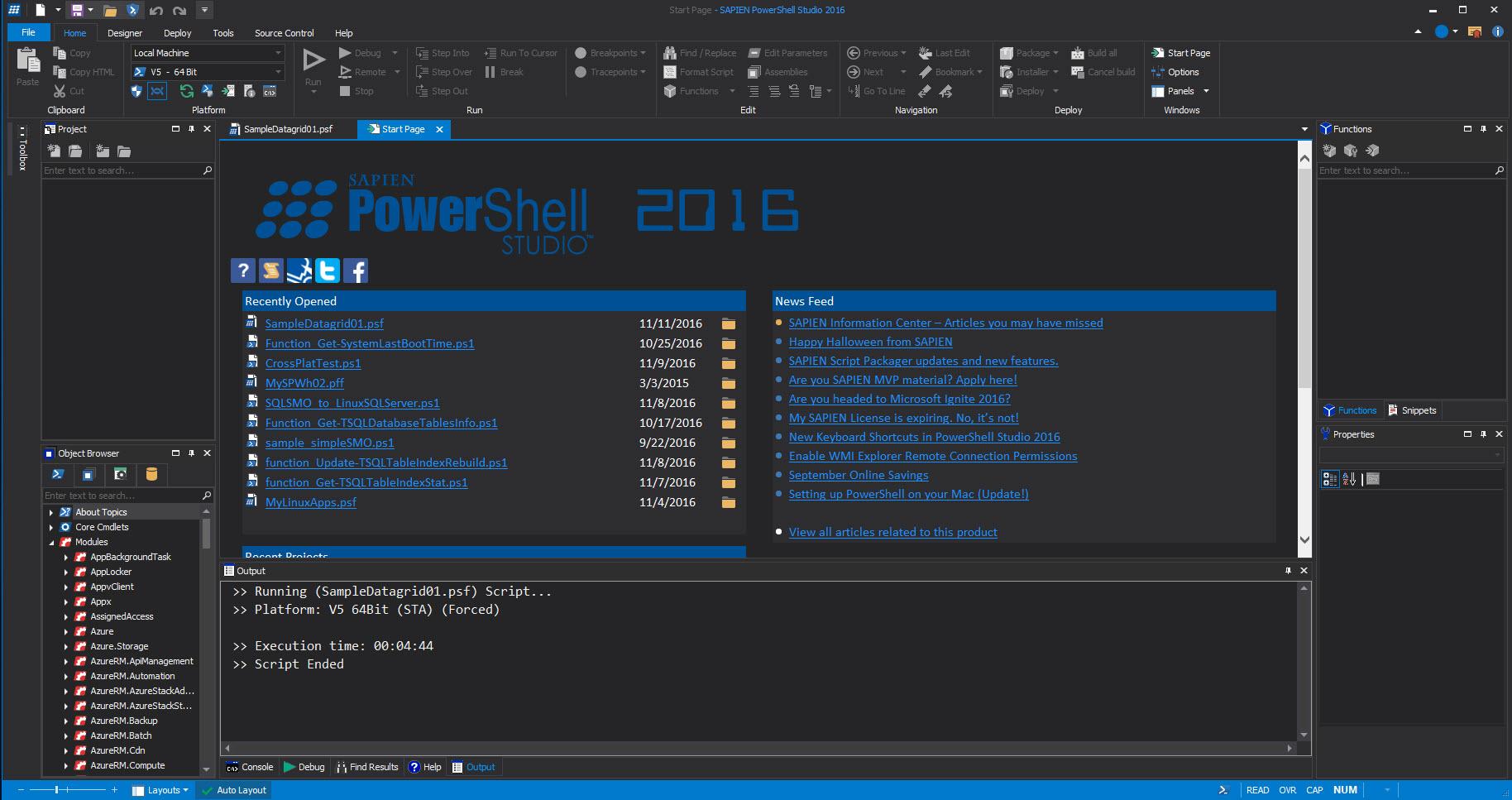 Creating Datagrid Gui In Sapien Powershell Studio Max Trinidad