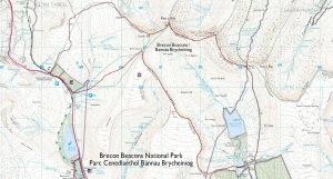Brecon Beacons Circuit OS Map