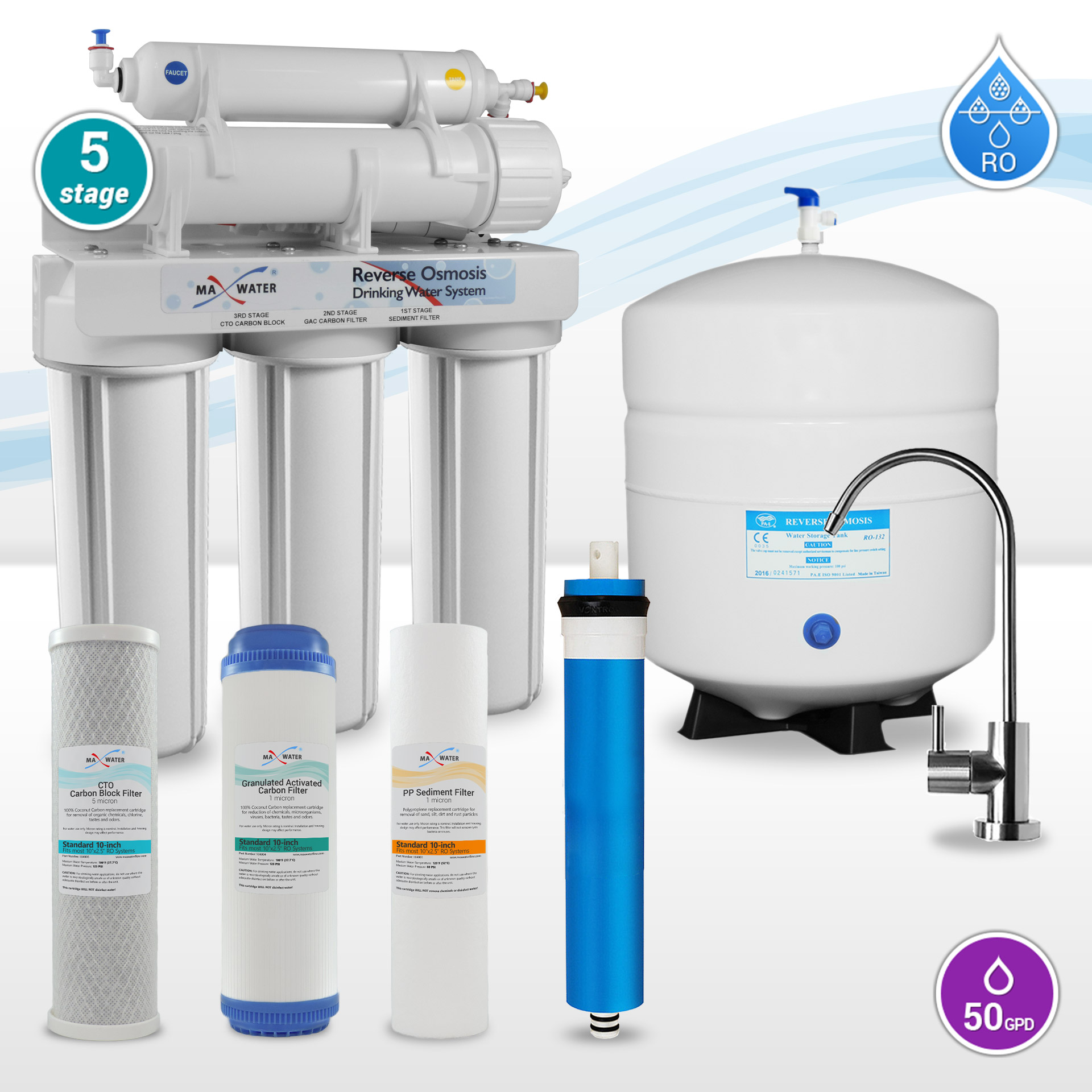 5 Stage Home Reverse Osmosis Systems