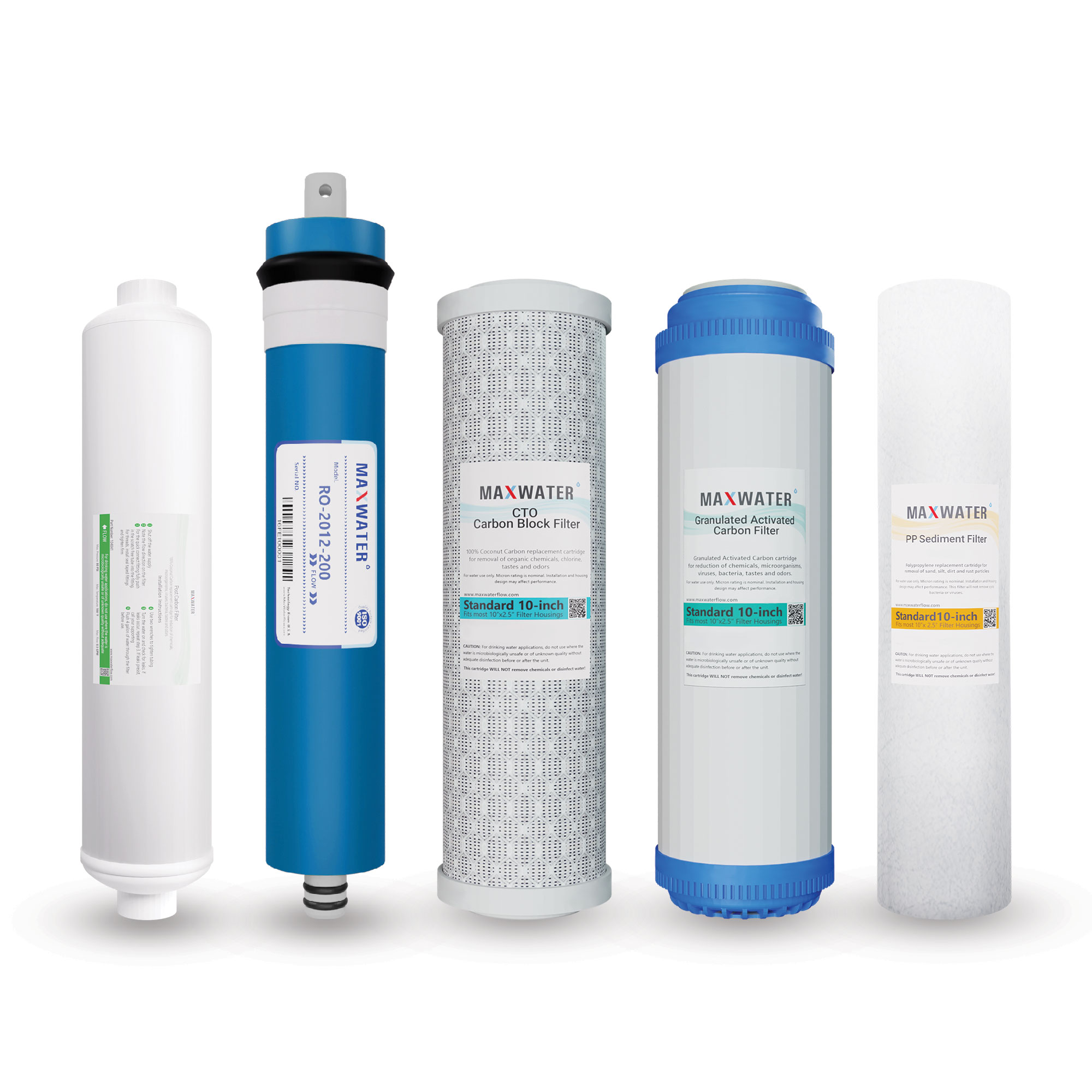5 Stage Reverse Osmosis Full Replacement Water Filter Kit