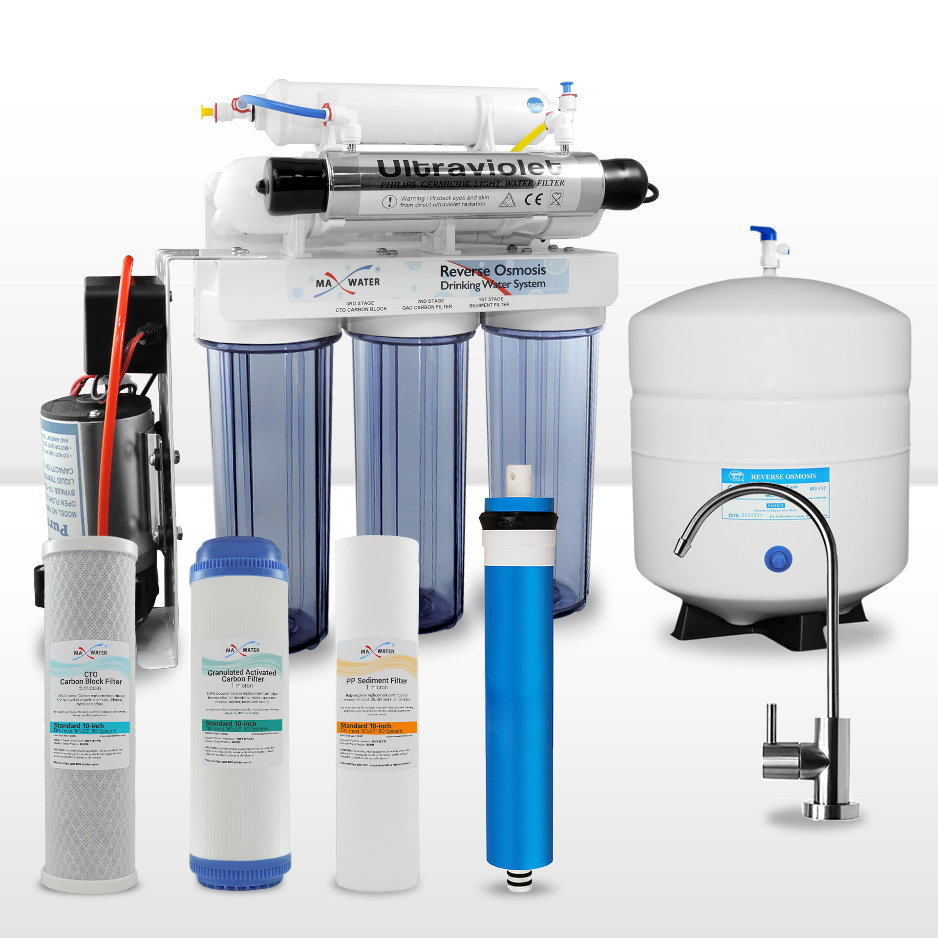 6 Stage Reverse Osmosis System With Booster Pump Amp Uv