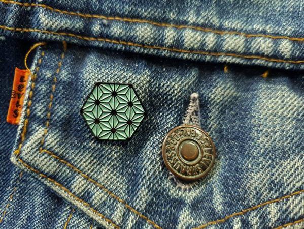 Japanese Asanoha Pattern Soft Enamel Pin