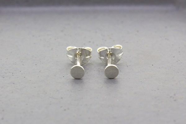Tiny Dot Silver Stud Earrings