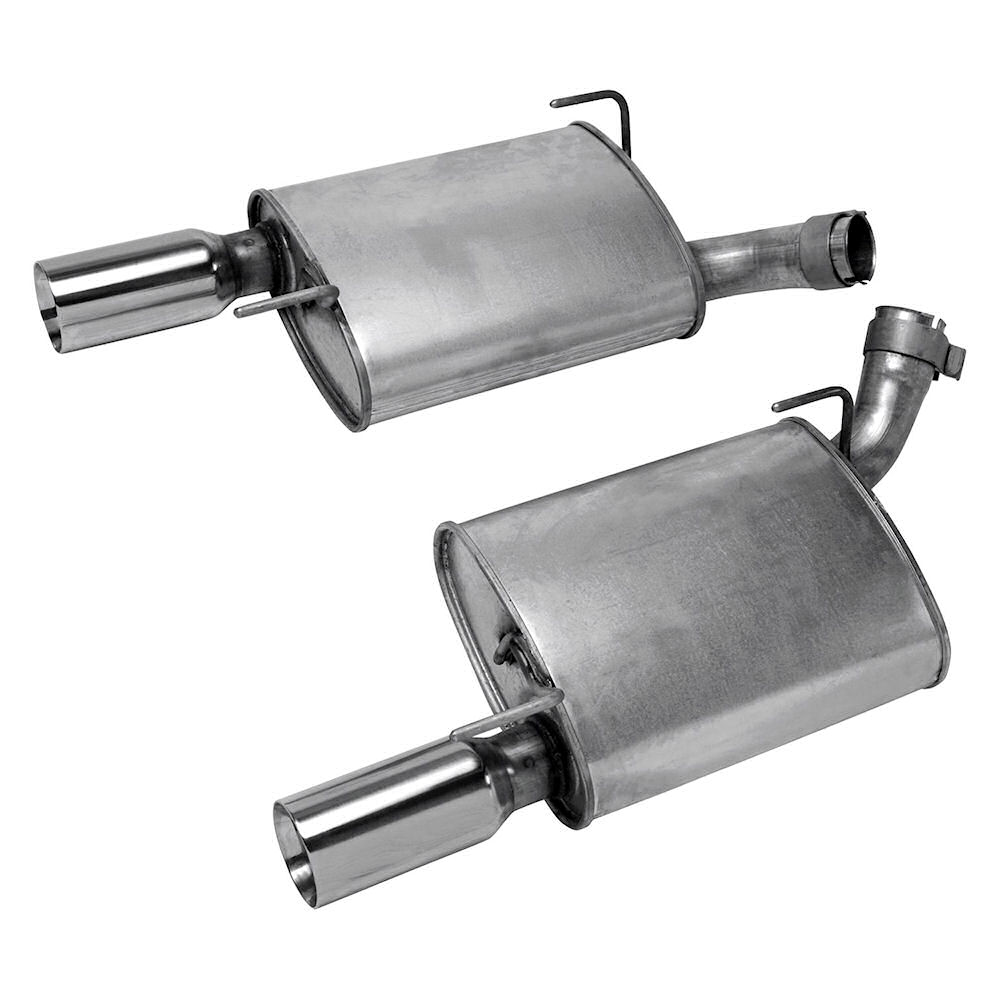 exhaust mufflers fpp stainless steel 05 09 ford mustang gt