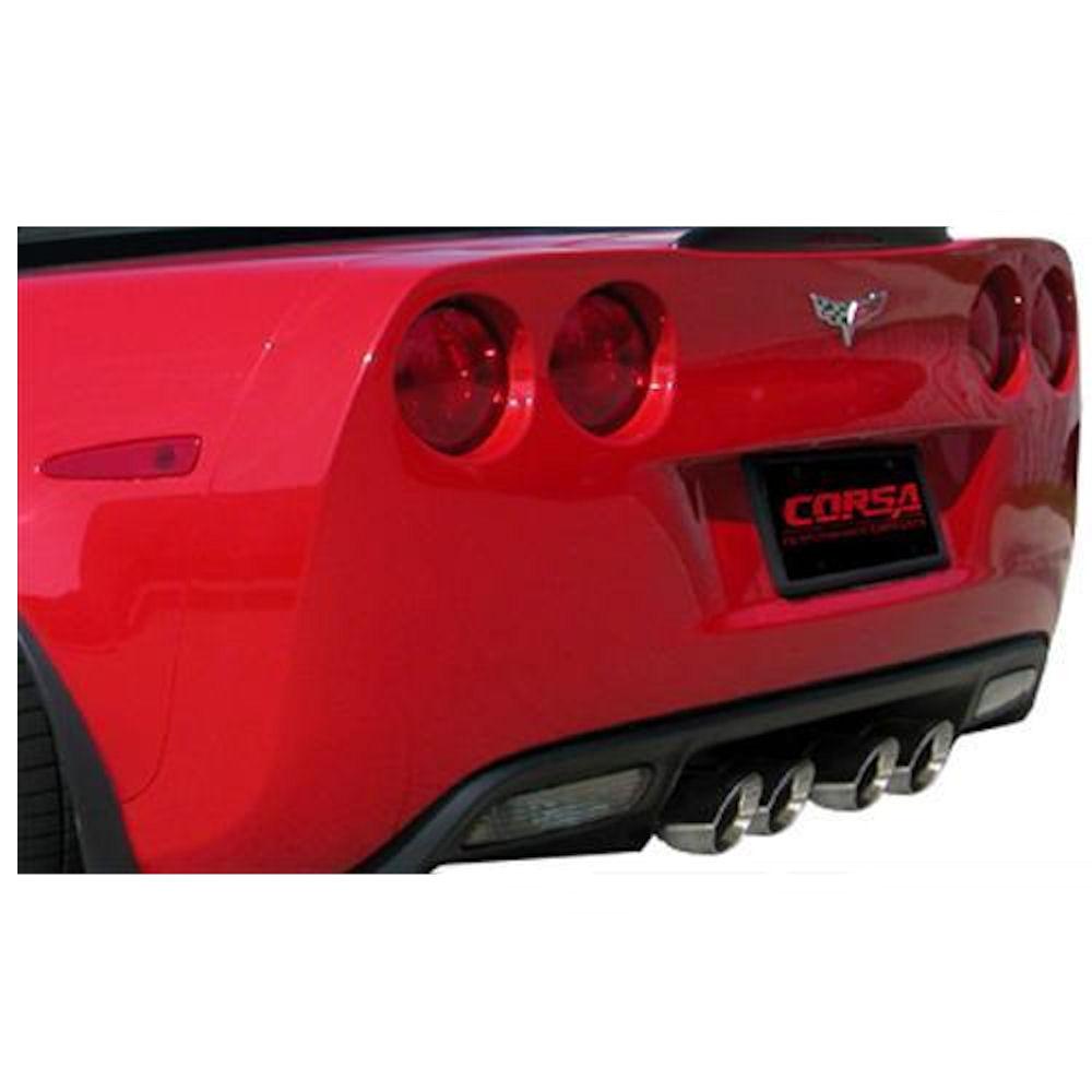 exhaust system sport polished 06 13 chevy corvette z06 zr1