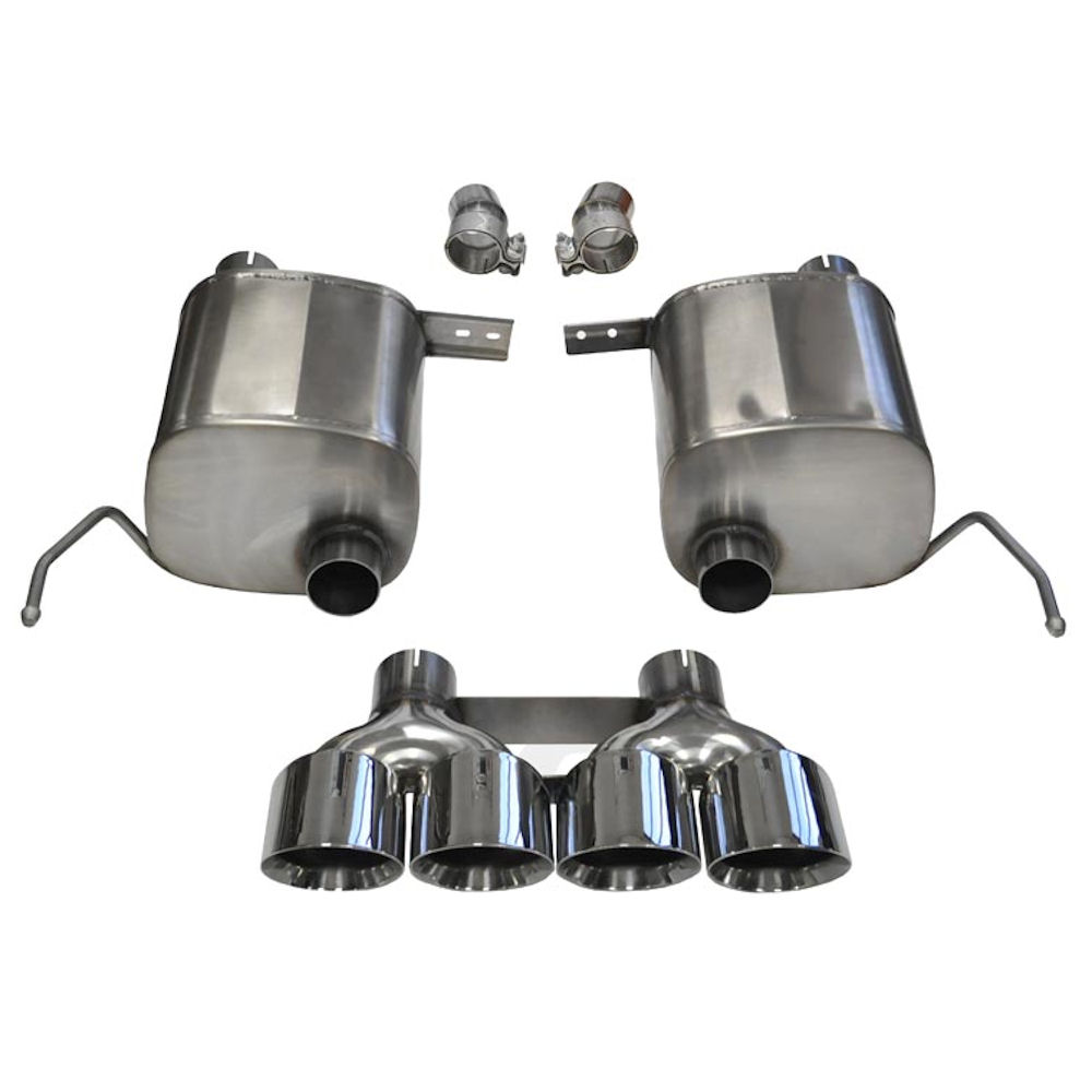 exhaust system sport polished 14 19 chevy corvette