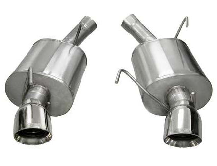 exhaust system xtreme polished 05 10 ford mustang gt gt500