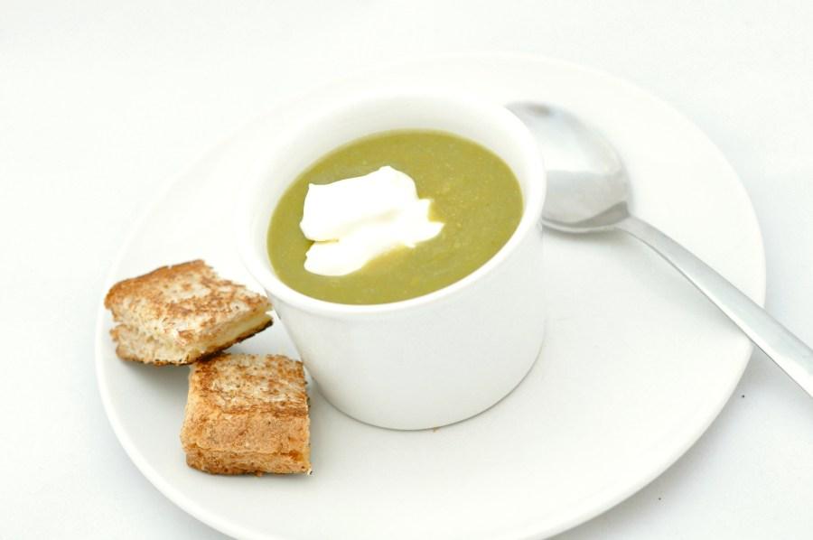Asparagus lime soup