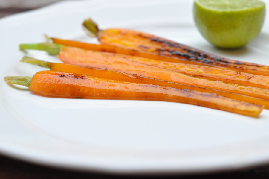 Caramelized lime carrots