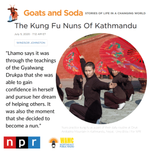 Link to NPR article - Kung Fu Nuns of Kathmandu, Nepal