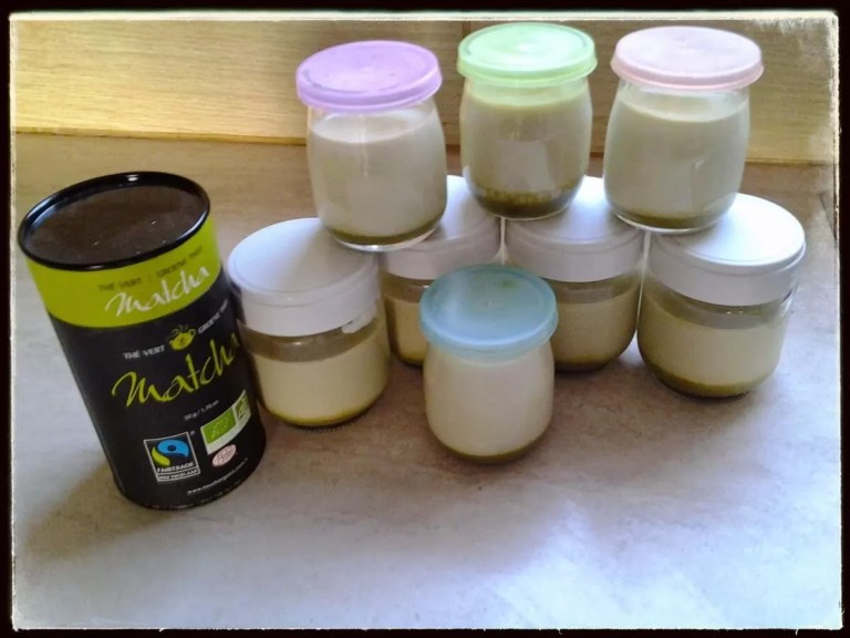 yaourt au thé matcha