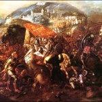Bataille entre les Espagnols et les Aztèques © Wikipedia