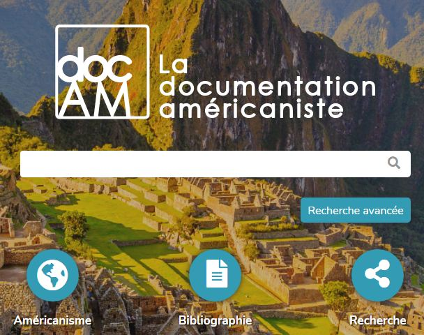 docAM, le site de documentation américaniste