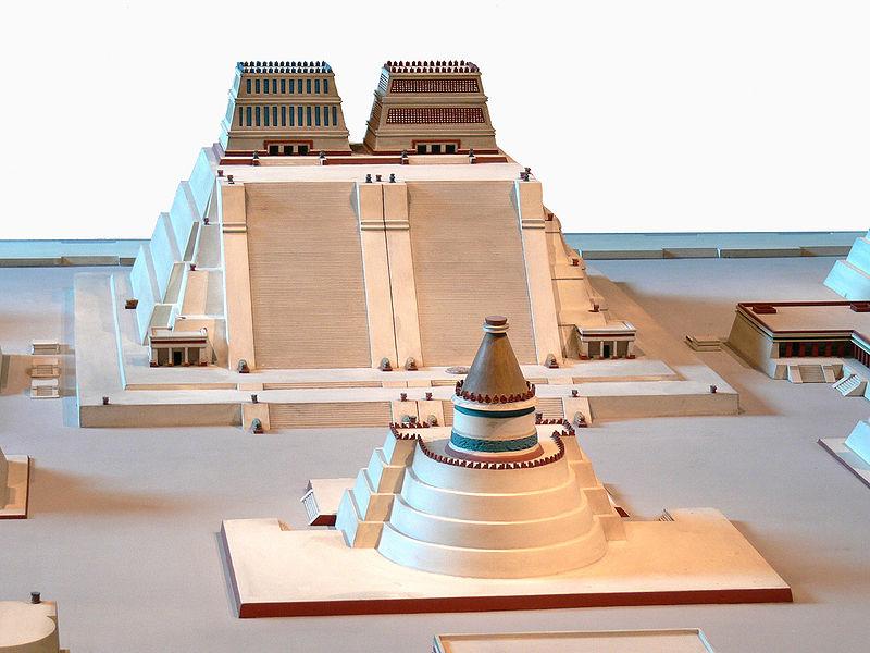 Maquette du Templo Mayor (Wikipedia/Wolfgang Sauber)