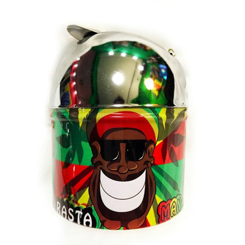 Bob Marley Metal Flip-Lid Ashtray