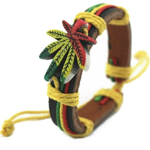 Weed Rasta Reggae Bracelet