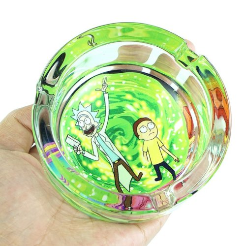 Rick and Morty Glass Ashtray