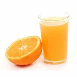 jus d'orange préssé
