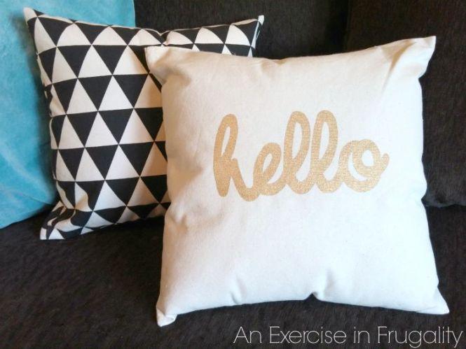 Home Decor DIYS - No Sew Pillows ExerciseInFrugality