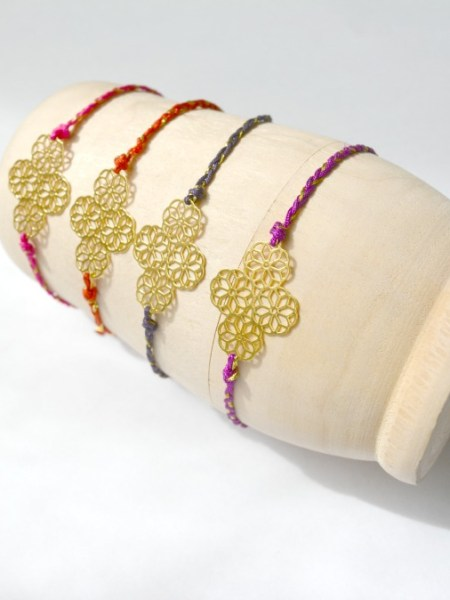 "Bracelet Eshmé ""May Moucharabieh"" - Estampe plaqué or"