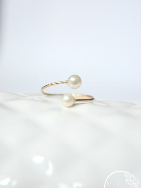 BAGUE MAY MINIMALISTE PERLES FINES - 14 carats perles d'eau douce