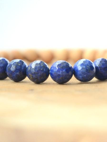 Bracelet Blue SWEET SANTAL - Perles de santal, Lapis lazuli