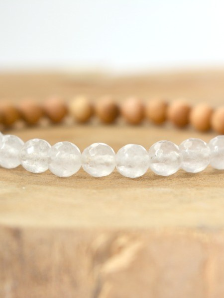 Bracelet Pure SWEET SANTAL - Perles de santal, jade