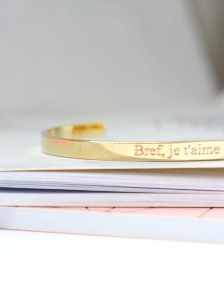 JONC JE T'AIME - Jonc plaqué or jaune