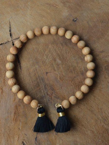 Jonc Sobr SWEET SANTAL - Perles de santal