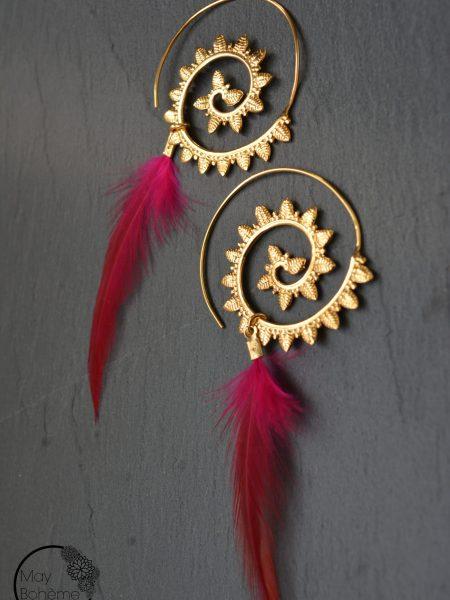 """Boucles d'oreilles Indiennes Assia """"INDIAN MOOD"""" - Boucles d'oreilles ethnique plaqué or"""