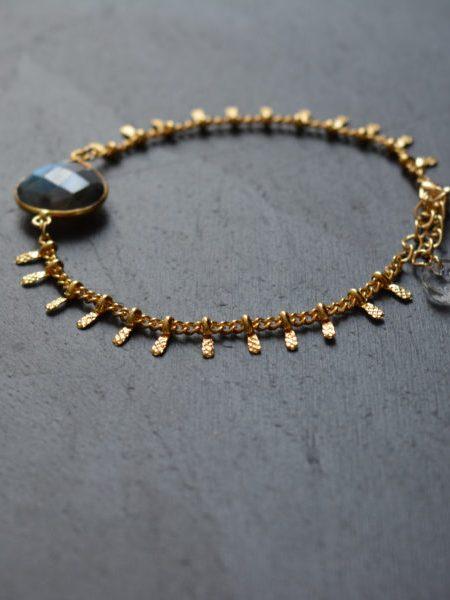 "Bracelet Taj Mahal ""INDIAN MOOD"" - Bracelet Labradorite goutte"