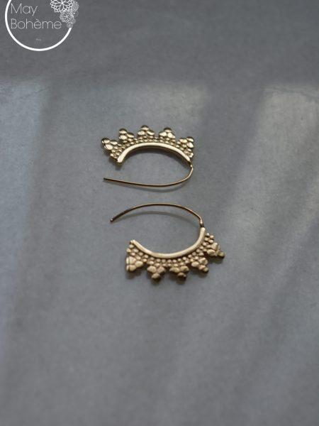 "Boucles d'oreilles Pur Taj Mahal ""INDIAN MOOD"" - boucles d'oreilles bindi"