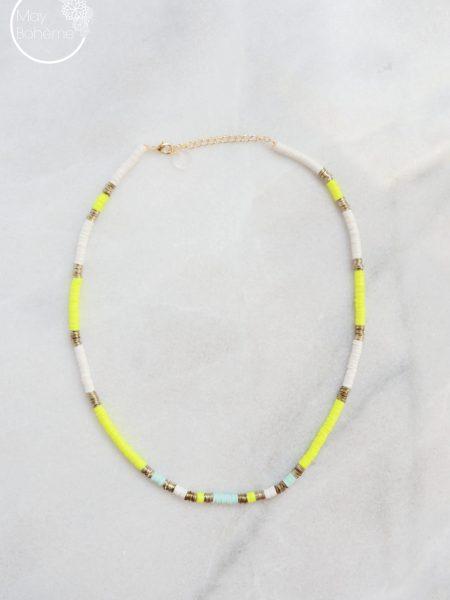 """Collier Sunshine """"Bohémian Mood"""" - Collier Surfeur perles"""