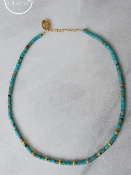 "Collier Love Jaipur ""INDIAN MOOD"" - Collier Heishi turquoise"