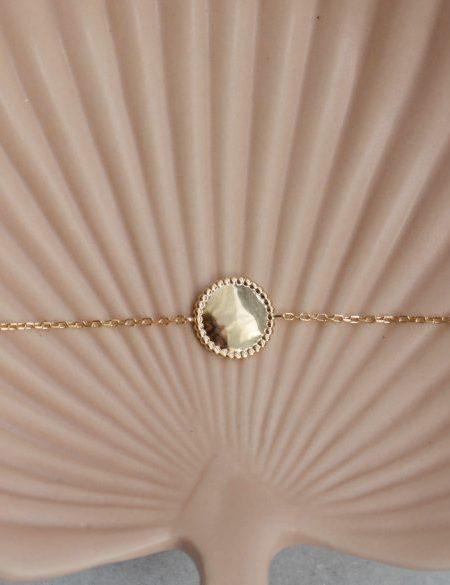 "Bracelet Tathya ""Bohemian Mood"" - Bracelet fin Médaille  plaqué or"
