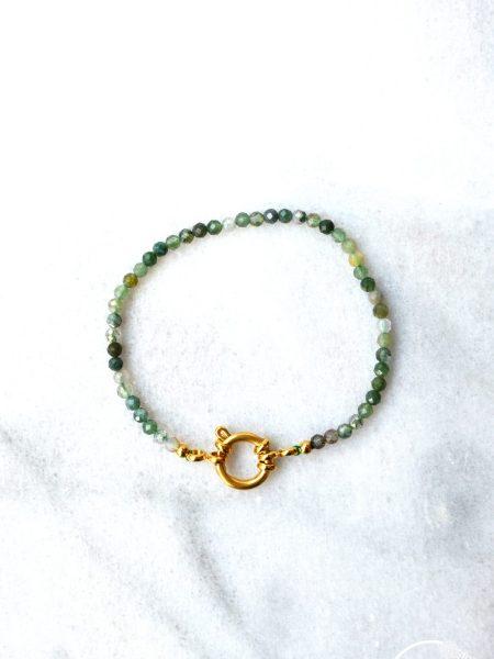 "Bracelet Fathaï ""ROOTS"" - Bracelet pierre fine fermoir Toggle"